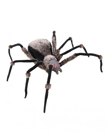 Schwarze Riesen Spinne mit LED Augen 130cm