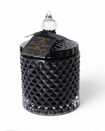 Black Rose Gothic Scented Candle In Vintage Jar Large