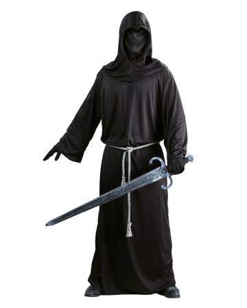 Schwarze Mönchskutte  mit Kapuze