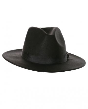 Schwarzer Herrenhut mit Hutband