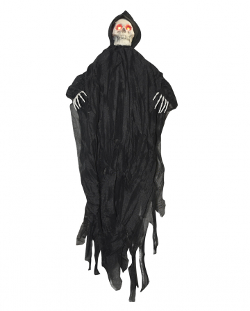 Black Grim Reaper Hanging Figure With LED Eyes