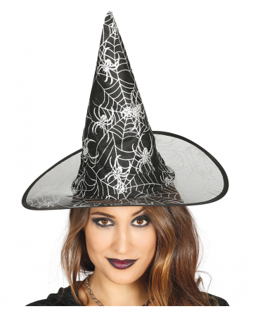 Black Witch Hat With Cobwebs Design