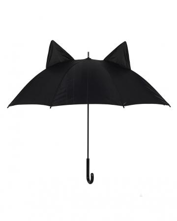 Schwarze Katze Regenschirm mit Ohren