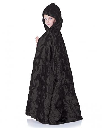 Schwarzer Kapuzenumhang für Kinder