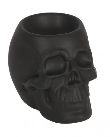 Schwarzer Totenschädel Duftöl Teelichthalter