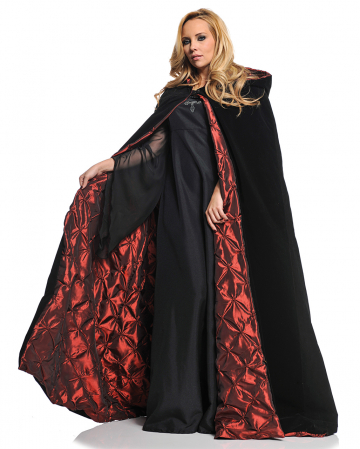 Black Deluxe Velvet Hooded Cape