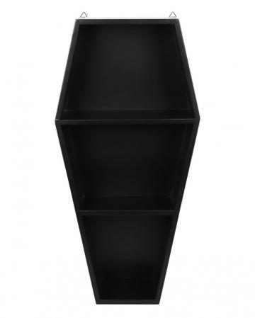 Schwarzes Sarg Regal mit 2 Böden 50cm