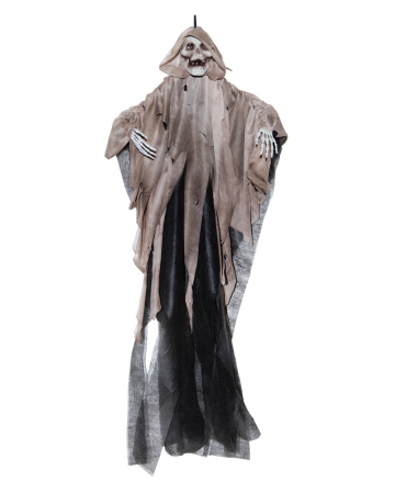 Grim Reaper Hanging Figure With Brown Cowl