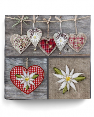 Napkins rustic country house 20 pcs.