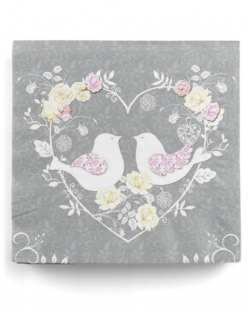 Napkins Turtle Doves 20 pcs.