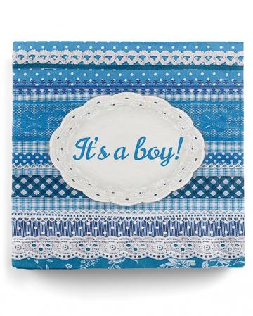 It's a Boy Servietten Blau 20 St.