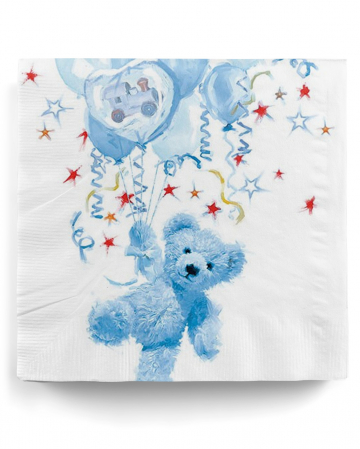 Napkins Teddy Boy blue 20 pc.