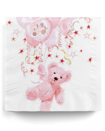 Napkins Teddy Girl pink 20 pc.
