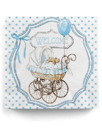 Napkins Welcome Blue 20 Pcs.