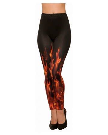 Sexy Flammenteufel Leggings