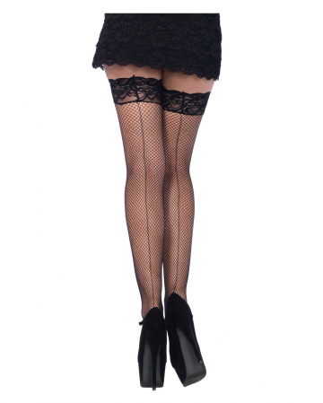 Sexy Net Stockings With Laceband Black