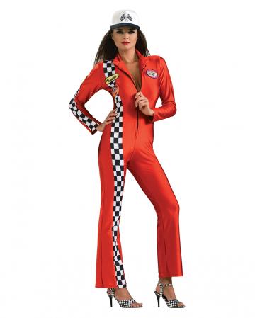 Sexy Rennfahrer Damenkostüm rot