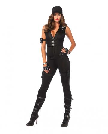 Damen Deluxe SWAT Agent Kostüm