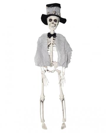 Skeleton Groom With Cylinder 40cm
