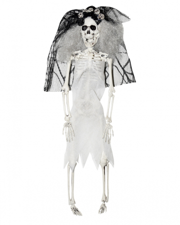 Skelett Braut mit Schleier 40cm