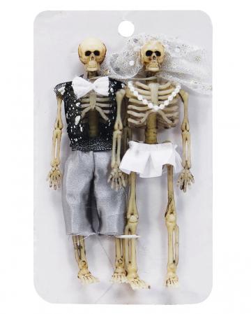 Skeleton Bridal Couple 15cm