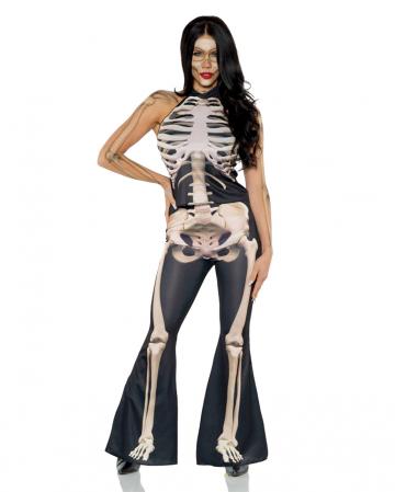Skelett Frauenkostüm 2-teilig