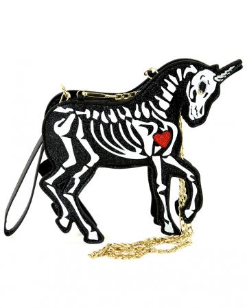 Skelett Unicorn Clutch Umhängetasche