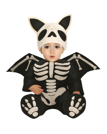 Skeleton Bat Baby Costume With Wings