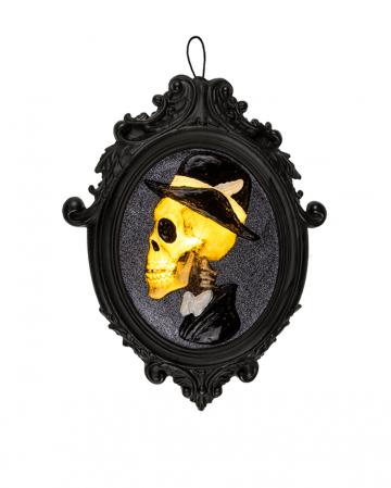 Skeleton Gentleman Picture Frame With Lighting