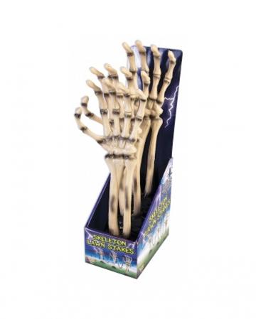 Skelett Hand Garten Stecker mit Kette