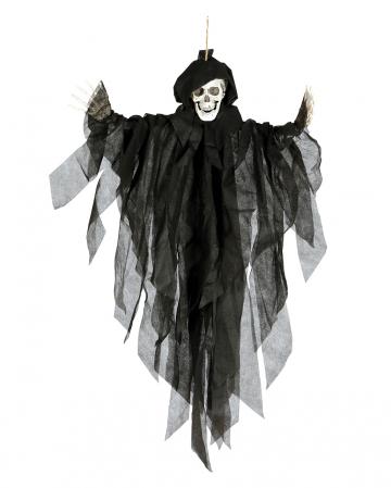 Skeleton Hanging Figure Black 75cm