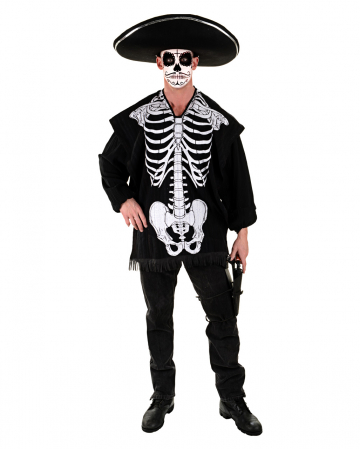 Skeleton Costume Poncho