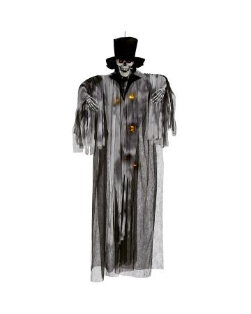 Coachman Skeleton Hanging Figure With LEDs
