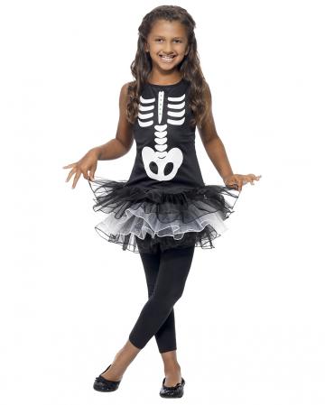 Skelett Ballerina Kostüm für Kinder