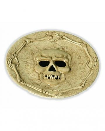 Skull & Bones Ceramic Plate 27 Cm