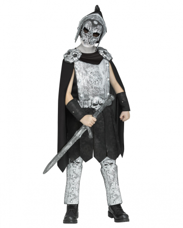 Skull gladiator kids costume with mask