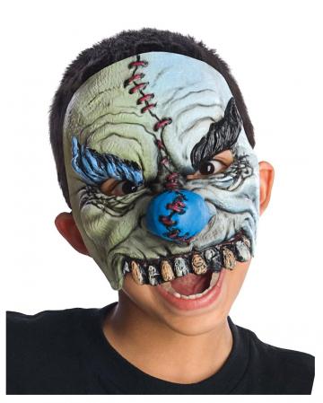 Smiles Horrorclown Halbmaske für Kinder