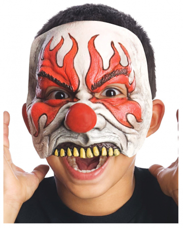 Smokey Horror Clown Children Half Mask
