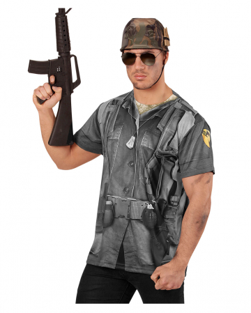 Soldier T-Shirt With Photo Print