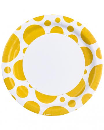 Sonnenschein Gelbe Punkt Pappteller 8 St.