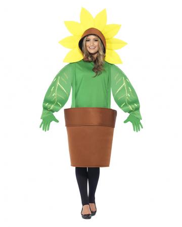 Sonnenblumen Kostüm mit Topf