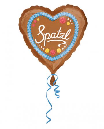 Folienballon Lebkuchenherz Spatzl