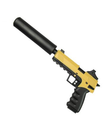 Glock mit Schalldämpfer Spielzeugwaffe aus Hart Schaumstoff