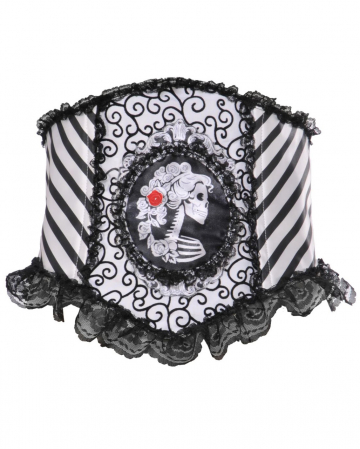 Lace Bodice With Skeleton Cameo