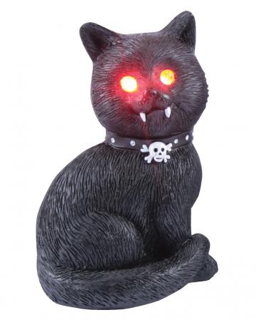Gothic Katze mit roten LED Augen