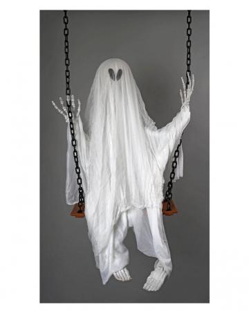 Halloween Gespenst auf der Schaukel