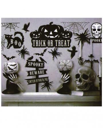 Unheimliche Halloween Wandsticker 16-teilig