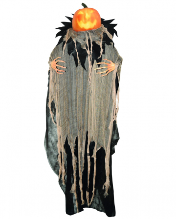 Talking Pumpkin Scarecrow Hanging Figure