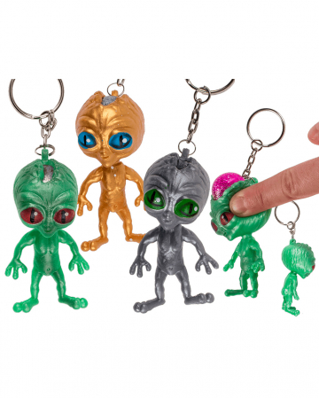 Schlüsselanhänger Squeeze Alien 1 Stück