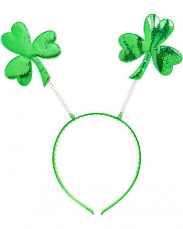 St. Patricks Day Headband With Shamrock